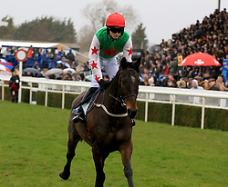 Dawson City ridden by Tom Bellamy during the Marstons 61 Deep Midlands Grand National race at Uttoxeter Racecourse.