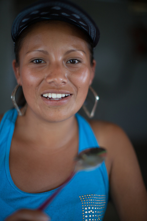 Julieth Morales, Fairtrade coffee producer with ASPROCAFE in Rio Sucio, Colombia. Max Havelaar Switzerland works with Colombian coffee producer ASPROCAFE in Rio Sucio on Fairtrade-certified coffee production.