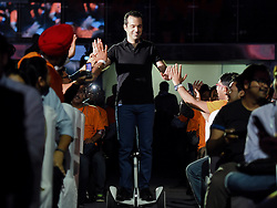Vice President of Xiaomi International Hugo Barra (C) enters the venue during the launch ceremony of Redmi Note 3 cellphone in New Delhi, capital of India, March 3, 2016. Chinese smartphone maker Xiaomi launched the specialized model equipped with Qualcomm Snapdragon 650 processor for India here on Thursday. EXPA Pictures © 2016, PhotoCredit: EXPA/ Photoshot/ Bi Xiaoyang<br /><br />*****ATTENTION - for AUT, SLO, CRO, SRB, BIH, MAZ only*****