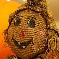 Usa, California, Del Mar. A scarecrow at a Pumpkin Patch festival.