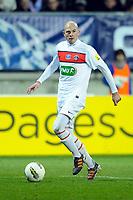 FOOTBALL - FRENCH CUP 2011/2012 - 1/16 FINAL - SABLE FC v PARIS SAINT GERMAIN - 20/01/2012 - PHOTO PASCAL ALLEE / DPPI - CHRISTOPHE JALLET (PSG)