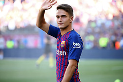 August 15, 2018 - Barcelona, Spain - Denis Suarez during the presentation of the team 2018-19 before the match between FC Barcelona and C.A. Boca Juniors, corresponding to the Joan Gamper trophy, played at the Camp Nou, on 15th August, 2018, in Barcelona, Spain. (Credit Image: © Joan Valls/NurPhoto via ZUMA Press)