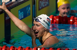 Mary Descenza of USA set new World record in the Women's 200m Butterfly Heats during the 13th FINA World Championships Roma 2009, on July 29, 2009, at the Stadio del Nuoto,  in Foro Italico, Rome, Italy. (Photo by Vid Ponikvar / Sportida)