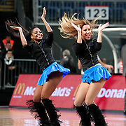 Anadolu Efes's Show girls during their Turkish Basketball League match Anadolu Efes between Banvit at Arena in Istanbul, Turkey, Sunday, November 06, 2011. Photo by TURKPIX