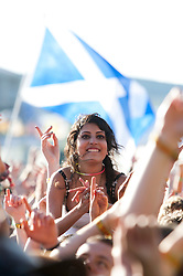 Fans of Jamie T on the Radio One/NME Stage, Friday at T in the Park 2010..Pic ©2010 Michael Schofield. All Rights Reserved.