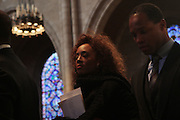 6 January 2010- New York,  NY- Jaqueline Livinia Brown, wife of Rev. Jesse Jackson, and son, Jonathan Luther Jackson at the Percy Ellis Sutton Funeral held at The Riverside Church on January 6, 2010 in New York City. Photo Credit: Terrence Jennings/Sipa