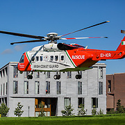25.08.2016        <br /> 21 students graduate with their BSc in Paramedic Studies and UL GEMS has the honour of being the first Irish University to confer this degree.  <br /> <br /> Irish Coast Guard Rescue Helicopter arriving at GEMs today. Picture: Alan Place.<br /> <br /> <br /> Our graduates are drawn from the National Ambulance Service, Dublin Fire Brigade and the Irish Coastguard.  UL GEMS wish to thank the students and all our tutors most sincerely for the huge effort that went into delivering this inaugural degree programme. Picture: Alan Place