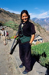 A Maoist fighter in Dailekh...About 10 years ago a small political party's leader presented an agenda to the Prime Minister in Kathmandu, highlighing the poverty in the remote areas of Nepal. The Minister ignored the agenda because it was a small political party...The same leader is now leading the Maoists and their 'People's War'