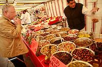 Market on Sunday at Place de la Reunion, Paris 20....