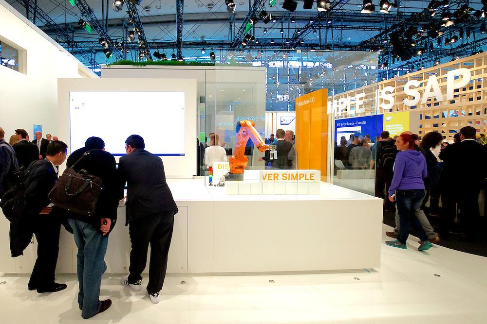 Cebit 2015 SAP Messestand