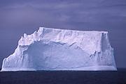 Huge iceberg floats in Scotia Sea near Antarctic Peninsula.