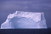 Huge iceberg floats in Scotia Sea near Antarctic Peninsula.