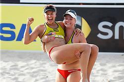 20140606 ITA: EK Beachvolleybal, Cagliari<br /> Marleen van Iersel, Madelein Meppelink<br /> ©2014-FotoHoogendoorn.nl / Pim Waslander