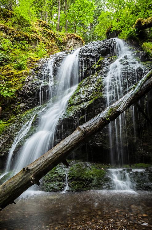 Cascade Falls in Moran State Park, Orcas Island, Washington, USA.