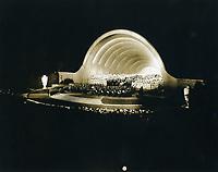 1933 Hollywood Bowl concert at night