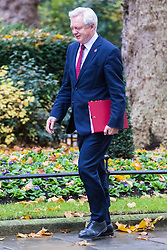 Downing Street, London, November 15th 2016.  Secretary of State for Exiting the European Union David Davis arrives in Downing Street for the weekly cabinet meeting.