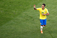 Roberto Firmino of Brazil celebrates after his goal during the 2018 FIFA World Cup Russia, round of 16 football match between Brazil and Mexico on July 2, 2018 at Samara Arena in Samara, Russia - Photo Tarso Sarraf / FramePhoto / ProSportsImages / DPPI