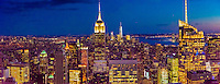 Panoramic view of Midtown Manhattan at twilight (looking south), New York, New York USA.