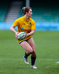 Meg Varley, warms up before making her 50th appearance for Worcester Warriors Women  - Mandatory by-line: Nick Browning/JMP - 20/12/2020 - RUGBY - Sixways Stadium - Worcester, England - Worcester Warriors Women v Harlequins Women - Allianz Premier 15s