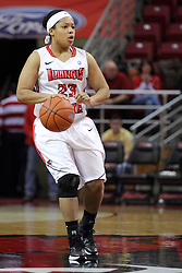 04 January 2015:  Mary Sims during an NCAA MVC (Missouri Valley Conference) women's basketball game between the Southern Illinois Salukis and the Illinois Sate Redbirds at Redbird Arena in Normal IL