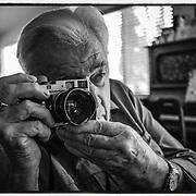 Photograph of Vietnam war photographer Tim Page in Echo Park, CA. June 2019