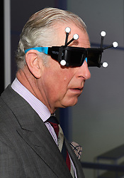 March 21, 2017 - Samlesbury, United Kingdom - Wearing some new eyewear technology, CHARLES Prince of Wales, tours the BAE Systems 'Academy for Skills & Knowledge' at Samlesbury in Lancashire. (Credit Image: © Cpna/i-Images via ZUMA Press)