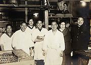 kitchen inside restaurant Japan 1930s