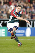 Leicester, England UK., 9th October 2004,  Zurich Premiership Rugby, Leicester Tigers vs Bath Rugby, Welford Road,<br /> [Mandatory Credit: Peter Spurrier/Intersport Images],<br /> Leicester tiger fly half Paul Broadfoot.