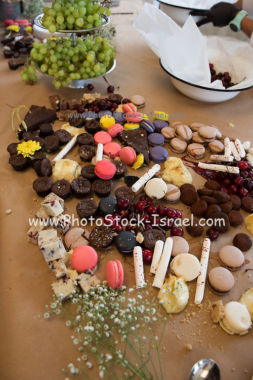 Assortment of desserts on a buffet table