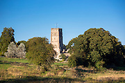 Northleach church, ancient monument in Cotswold landscape in Gloucestershire in The Cotswolds, UK