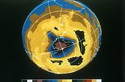 False colour image of Antarctic ozone hole, 30 November 1992. NASA photograph.