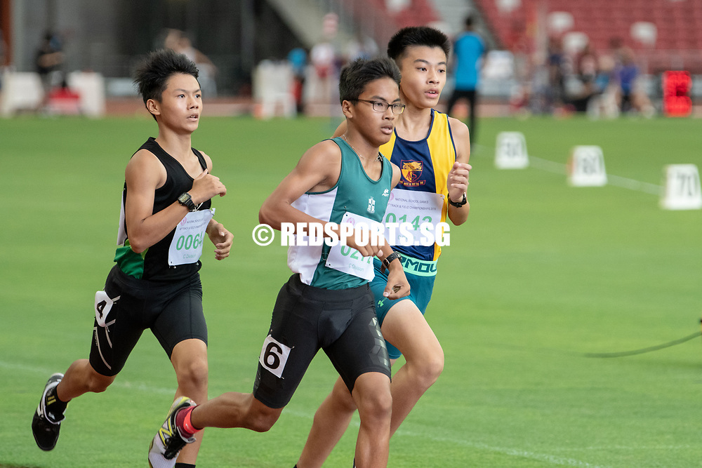 Kieran Andre Longue (#272, in green) finished first in the C Division Boys' 800m final with a time of 02:11.30. (Photo X © REDintern Jared Khoo)