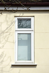 © Licensed to London News Pictures. 07/04/2013. London, UK Blind on windows at the embassy remain closed. The North Korean Embassy in Ealing in West London today, 7th April 2013. The Embassy is based in a 1920's detached house in a residential area. Photo credit : Stephen Simpson/LNP