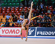 Arina Averina atleta della Società Ritmica Nervianese durante la seconda prova del Campionato Italiano di Ginnastica Ritmica.<br /> La gara si è svolta a Desio il 31 ottobre 2015.<br /> Arina è una ginnasta di origini russe nata il 13 agosto 1998.