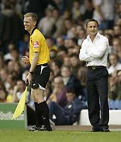 Photo: Aidan Ellis.<br /> Leeds United v Swansea City. Coca Cola League 1. 22/09/2007.<br /> Leeds Dennis Wise shares a joke with the lines man
