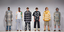 © Licensed to London News Pictures. 31/05/2015. London, UK. Collection by Holly Cooney. Fashion show of UCA Epsom at Graduate Fashion Week 2015. Graduate Fashion Week takes place from 30 May to 2 June 2015 at the Old Truman Brewery, Brick Lane. Photo credit : Bettina Strenske/LNP