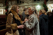 SHARON MAUGHAN; TINA HOBLEY, Reception after Christmas Carol Service in aid of the Haven, Breast Cancer Support Centres. St. Paul's, Knightsbridge. London. 9 December 2010.  -DO NOT ARCHIVE-© Copyright Photograph by Dafydd Jones. 248 Clapham Rd. London SW9 0PZ. Tel 0207 820 0771. www.dafjones.com.