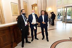 MATTEO MARANI GIUSEPPE MAROTTA E GIOVANNI CARNEVALI<br /> CALCIOMERCATO 2020 RIMINI<br /> RIMINI 01-09-2020<br /> FOTO FILIPPO RUBIN / MASTER GROUP SPORT