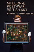 Sir Winston Churchill, The Goldfish Pool at Chartwell, circa 1962 (est. £50,000-80,000 his last painting) - Modern and Post-War British & Scottish Art at Sothebys New Bond Street. The sale will take place between 21 – 22 November.