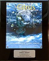 "Recognition award plaque for Carol Grant ""In Appreciation for Outstanding Photography & Your Passion for Manatees — Citrus County Visitors & Convention Bureau"""