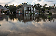 Floodwaters remain on Ridge Road in Ascension Parish on August 26, following the 1000 year flood.