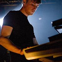 White Lies perform live at Shockwaves NMe Awards Tour 2009, Rock City, Nottingham, UK, 2009-02-11