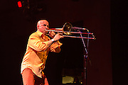 Jimmy Bosch, trombonist for Eddie Palmieri, at Celebrate Brooklyn!