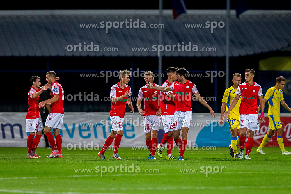 Players of NK Aluminij during football match between NK Domžale and NK Aluminij in 6th Round of Prva liga Telekom Slovenije 2017/18, on August 20, 2017 in Sports park Domzale, Domzale. Photo by Ziga Zupan / Sportida