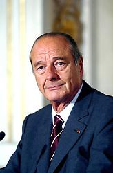 September 21, 2016 - Paris, IDF, France - Jacques Chirac, President De La Republique, Conference De Presse, Palais De L Elysee. (Credit Image: © Visual via ZUMA Press)