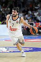 Real Madrid´s Facundo Campazzo during 2014-15 Euroleague Basketball match between Real Madrid and Zalgiris Kaunas at Palacio de los Deportes stadium in Madrid, Spain. April 10, 2015. (ALTERPHOTOS/Luis Fernandez)