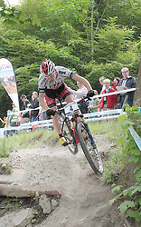 01.06.2014, Bullentaele, Albstadt, GER, UCI Mountain Bike World Cup, Cross Country Herren, im Bild Marotte Maxime Frankreich // during Mens Cross Country Race of UCI Mountainbike Worldcup at the Bullentaele in Albstadt, Germany on 2014/06/01. EXPA Pictures © 2014, PhotoCredit: EXPA/ Eibner-Pressefoto/ Langer<br /> <br /> *****ATTENTION - OUT of GER*****