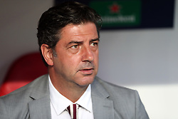 August 21, 2018 - Lisbon, Portugal - Benfica's head coach Rui Vitoria during the UEFA Champions League play-off first leg match SL Benfica vs PAOK FC at the Luz Stadium in Lisbon, Portugal on August 21, 2018. (Credit Image: © Pedro Fiuza/NurPhoto via ZUMA Press)