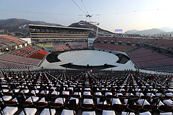 A general view ahead of the Opening Ceremony of the PyeongChang 2018 Winter Olympic Games at the PyeongChang Olympic Stadium in South Korea.