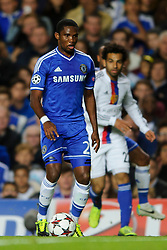 Chelsea Forward Samuel Eto'o (CMR) in action during the first half of the match - Photo mandatory by-line: Rogan Thomson/JMP - Tel: 07966 386802 - 18/09/2013 - SPORT - FOOTBALL - Stamford Bridge, London - Chelsea v FC Basel - UEFA Champions League Group E
